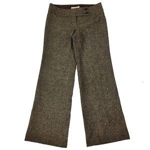 MICAHEL Michael Kors Wool Speckled Wide Leg Pant
